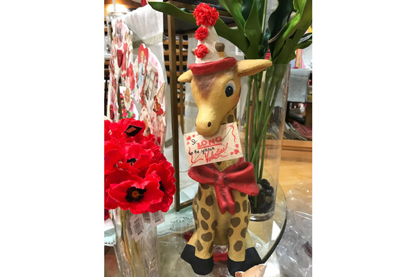 """I Long To Be With You Giraffe - Paper Mache $122.00"