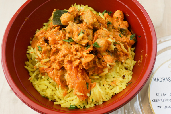 Madras Curry with Eggplant Bowl
