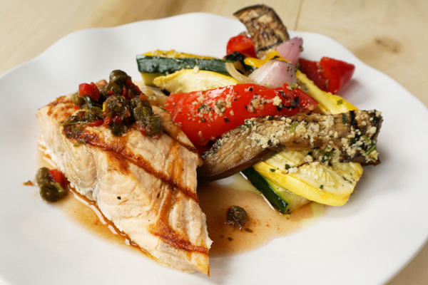Grilled Salmon & Vegetables