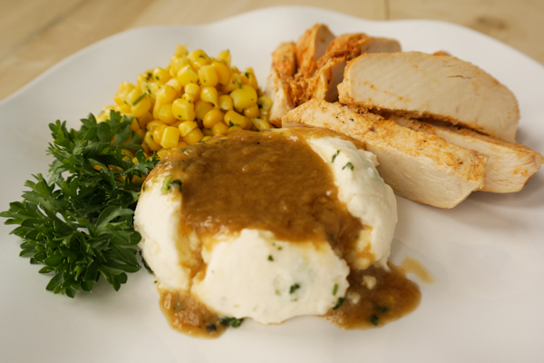 Grilled Chicken With Mashed Potatoes Meal