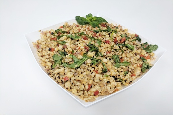 Grilled Corn Salad with Arugula