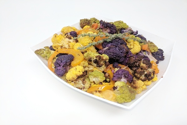 Tri Color Oven Roasted Cauliflower