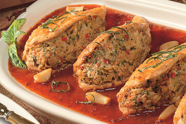 Stuffed Marinated Chicken Breasts