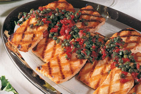 Tuscany Marinated Grilled Salmon