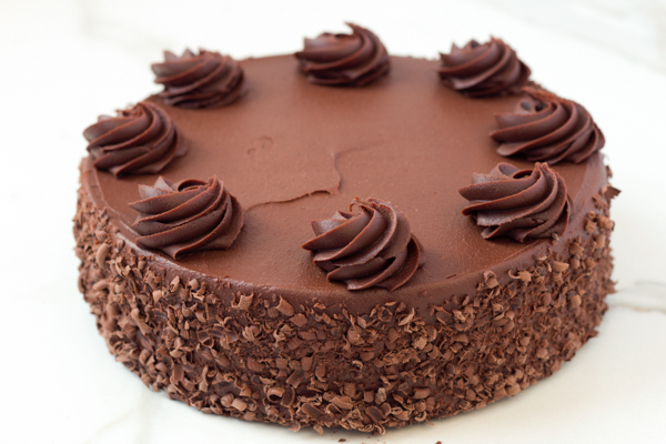 "Chocolate Fudge Cake With Chocolate Fudge Frosting - 8"" Single Layer"