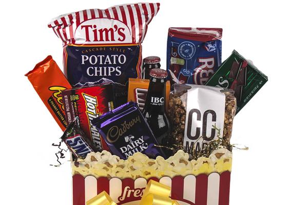 A Movie Night Basket