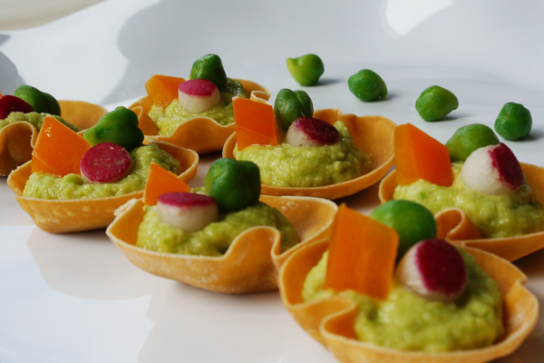 Green Garbanzo Tartlet Pastry Cup
