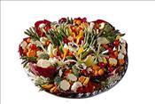 """Vegetable Platter : 16""""-55.00 I 18""""-75.00"""