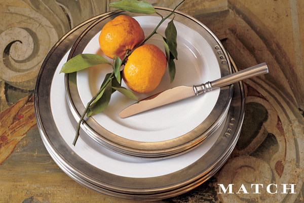 Match dishware collection