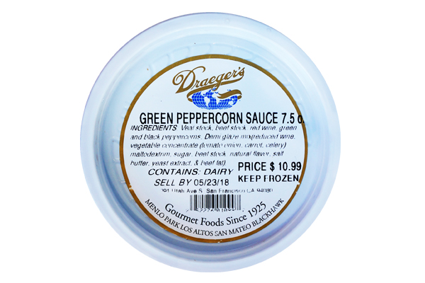 Draeger's Green Pepper Corn Sauce