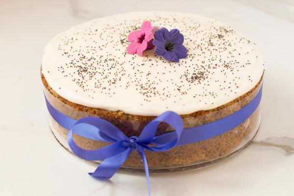 Draeger's Poppyseed Orange Cake - Single Layer