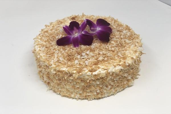 Draeger's Vanilla Coconut Cake - Single Layer
