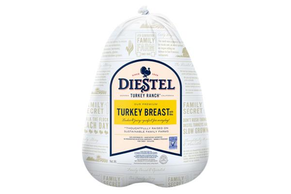 Draeger's Diestel Turkey Bone-In Breasts