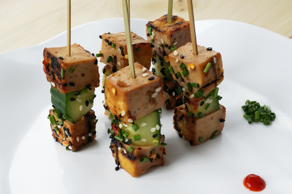 Draeger's Teriyaki Tofu Skewers