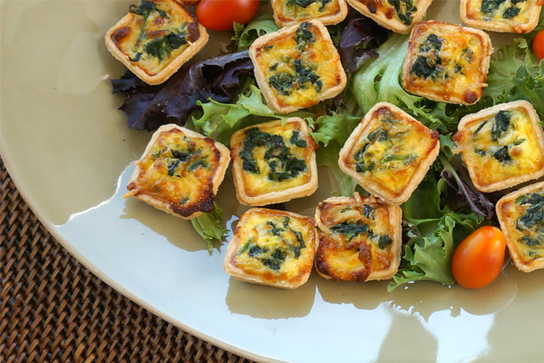 Draeger's Quiche Tartlets, Spinach