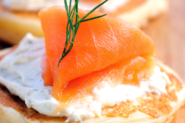 Blini with Smoked Salmon & Crème Fraîche