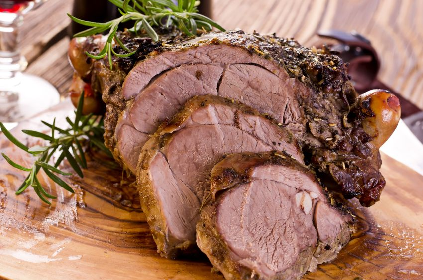 Grilled Butterflied Leg of Lamb with Rosemary