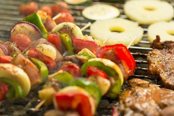Tropical Grilled Vegetable Skewers
