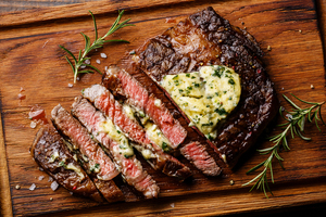 Rib-Eye Steaks with Roquefort Butter