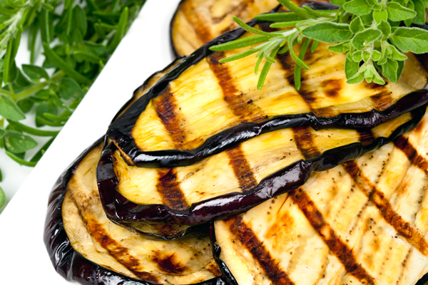 Grilled Eggplant with Balsamic Glaze