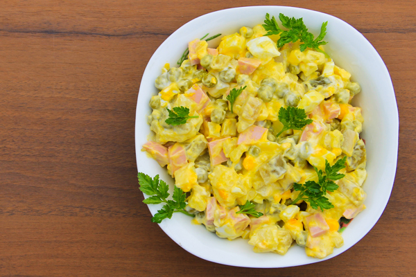 Warm Potato Salad with Sausage