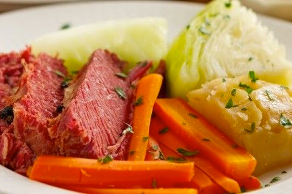Green Cabbage Simmered in the corned beef broth.$6.99 lb